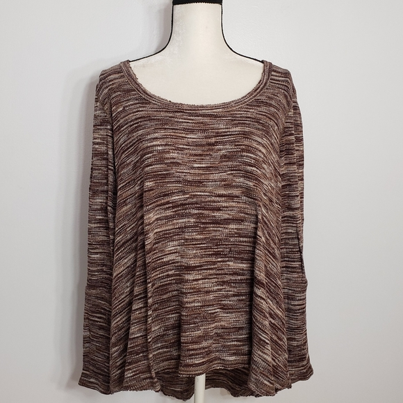Knox Rose Tops - KNOX ROSE high low long sleeve top size 1